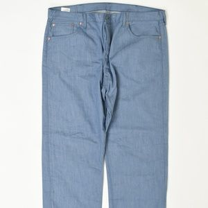 Levis  Big & Tall 44 Blue 44x30 501 Cotton solid